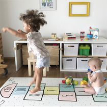 INS burst custom Kids room game carpet crawl Mat game blanket Jump house digital anti-skid mat