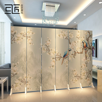 Chinese screen partition wall living room stacked mobile simple modern living room office bedroom to block the home folding screen