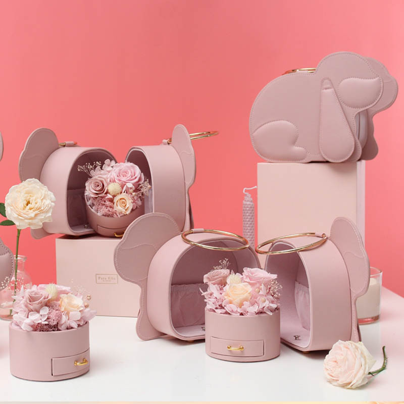 Pig fine 緻 gift box creative drawer of immoral flower jewelry box Valentines Day roses can be paired with necklaces