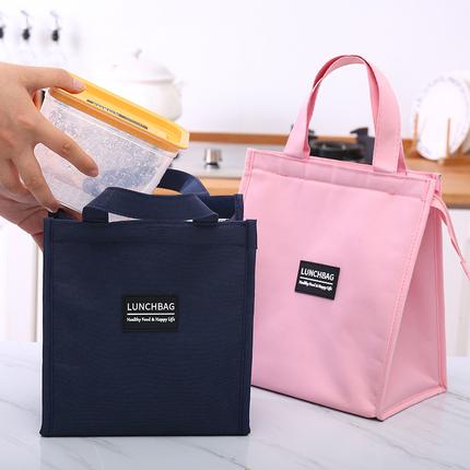 带饭的手提袋饭盒袋帆布便当袋妈咪包保温袋冷藏袋铝箔加厚布袋子