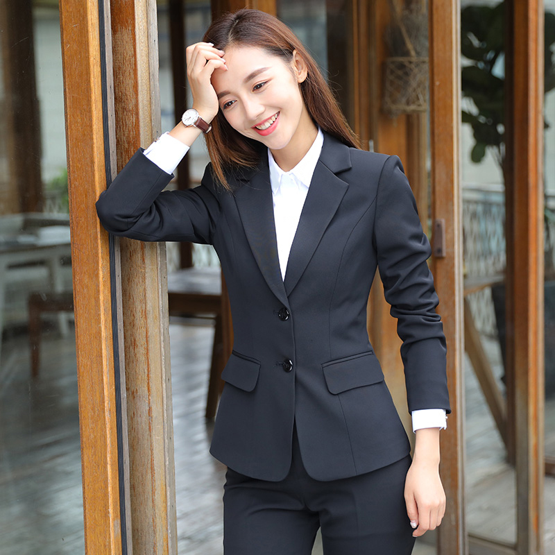 Suit suit women ol work clothes work clothes female Korean version of the fashion temperament is dressed as college students interview autumn and winter suits