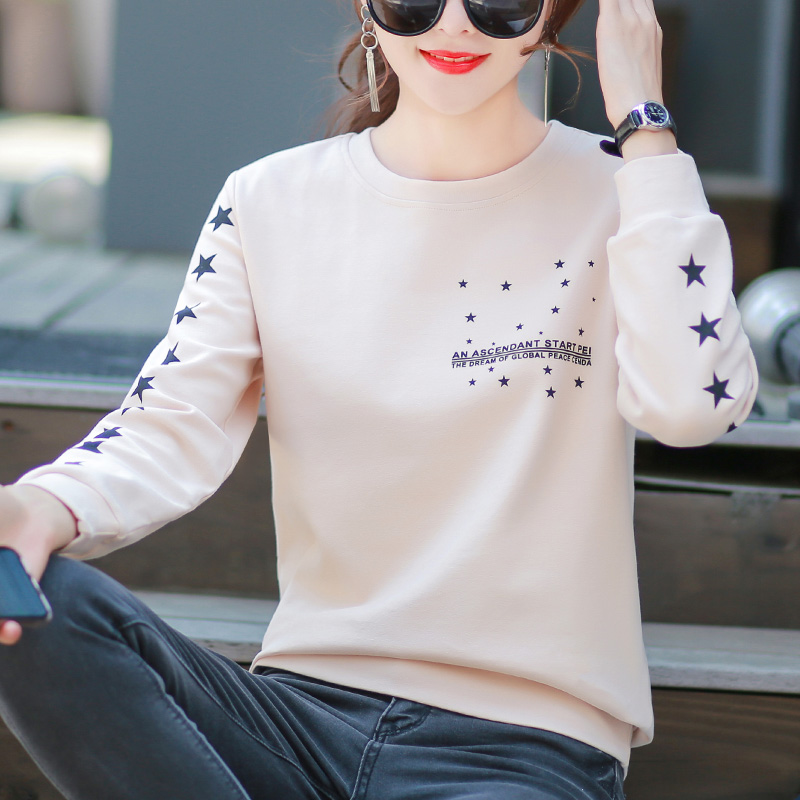 2 pieces) long-sleeved T-shirt lady Korean version loose spring and autumn dress 2020 new cotton inner tie-up clothes