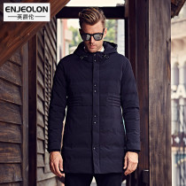 British Viscount slim in the 2016 winter men's fashion hooded long coat padded cotton clothes minimalist jacket wave