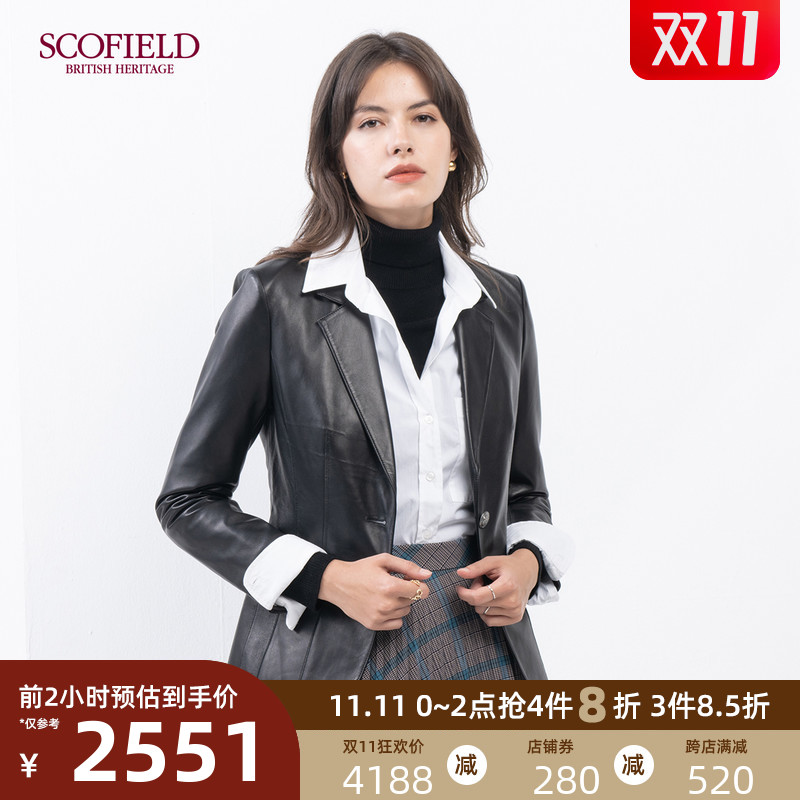 SCOFIELD Womens 2020 Autumn Winter New Soft and Comfortable Waist Sheep Leather SFJLA4T010