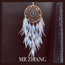 MR ZHANG dream net lamp original birthday girl room small night light feather hanging literary gift ins wind