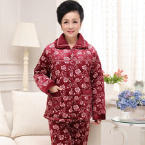 The old lady winter pajamas thick jacket suit 50607080 year old Home Furnishing clothing cotton underwear