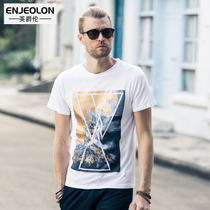 British personality Sir 2017 summer men's fashion of self printed retro pattern short sleeve t-BR tide
