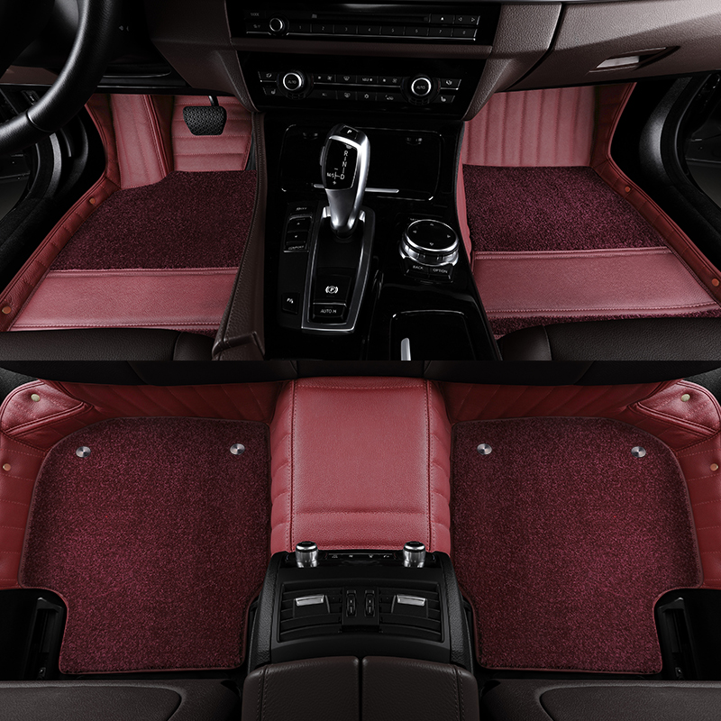 The BMW 5 Series 530li X3 X5 7 Series 740li X6 X4 X7 6 Series GT leather car footrests are fully enclosed