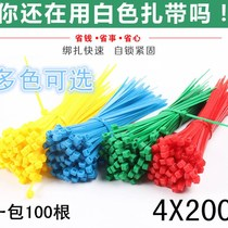 Color self-locking nylon straps 4X200mm plastic straps with red yellow blue green and white