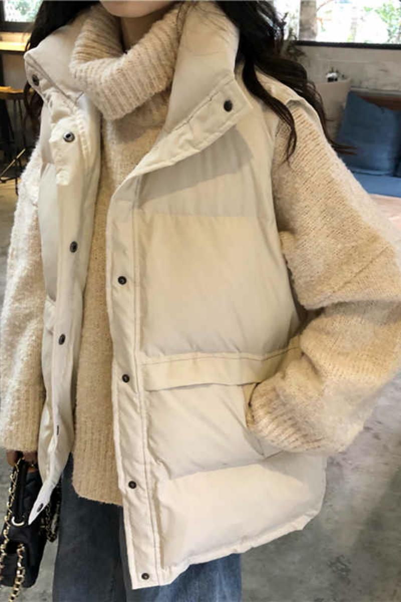 South Korean down cotton horse clip jacket women 2020 autumn and winter new models also wear thick sleeveless warm loose vest women