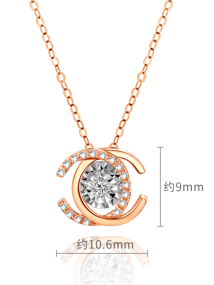 Fashion necklace girl rose smart pendant color gold collarbone chain custom 2020