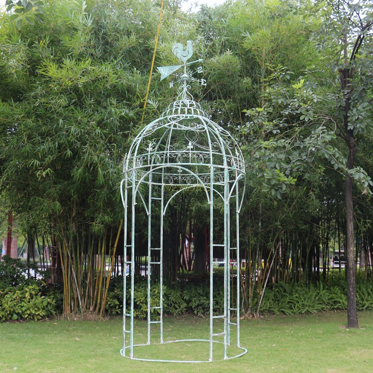 Foreign single ancient do old sense plus coarse iron wind weather heading gazebo Yurt big arch iron wire climbing frame