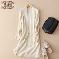 Early spring wool loose knit twist sweater