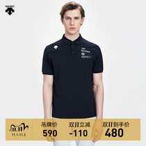 DESCENTE Desant TOUGH Fabric Men Knitted Short Sleeve POLO Shirt D0291TPS83