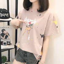 Short Sleeve T-shirt 2018 new Korean version students loose Summer body T-shirt sleeve-top half-sleeved T-shirt