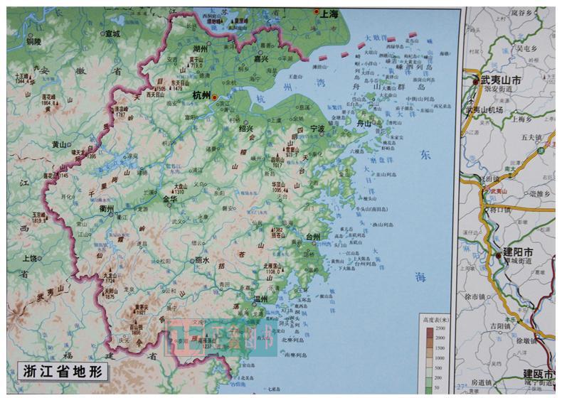 热卖浙江省地图 2017版 高清折叠贴图全彩大全开 旅游便携系列 另有全图片