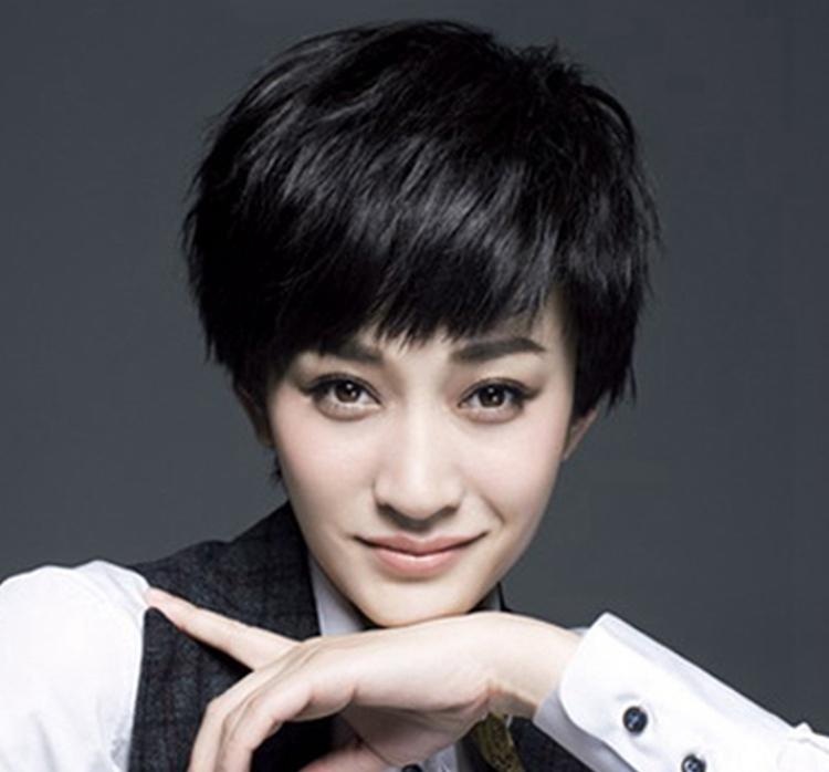 真发假发套女生超短发蓬松帅气自然逼真齐耳发型韩版