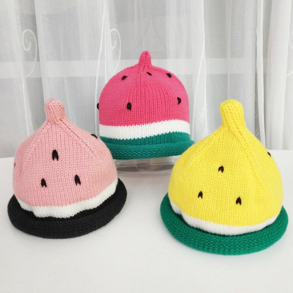 童帽子_热卖儿童加绒西瓜帽秋冬韩版潮婴儿宝宝毛线帽冬季保暖南瓜男女童帽子