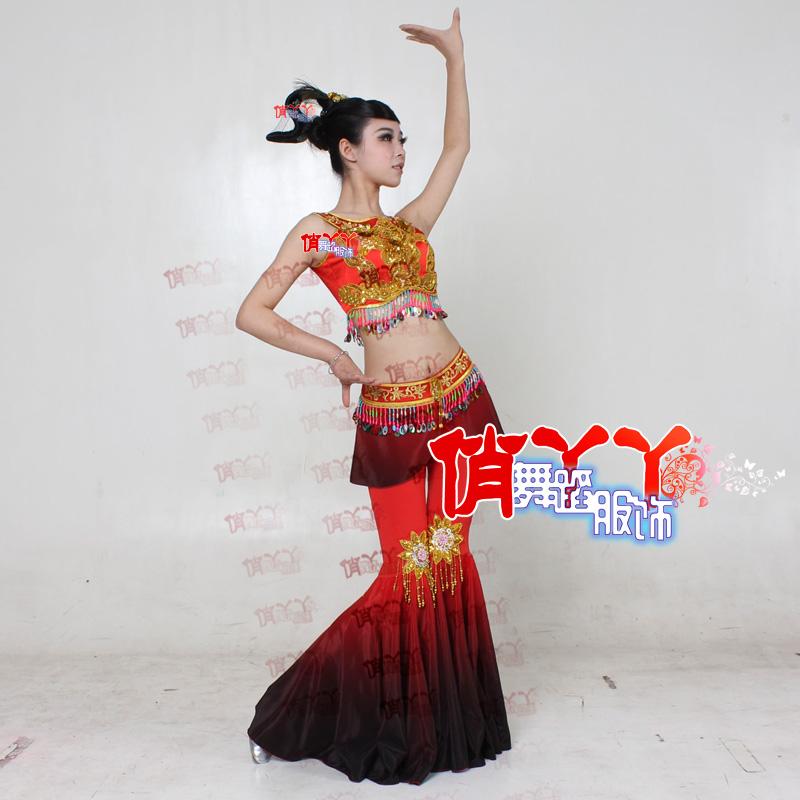 飞天舞蹈装敦煌舞服女裙舞蹈服装表演出服 仙女服装图片