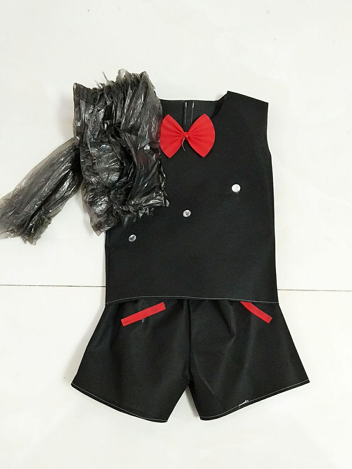 热卖17新款环保服装儿童时装秀演出服亲子装女公主裙diy亲子装走秀图片