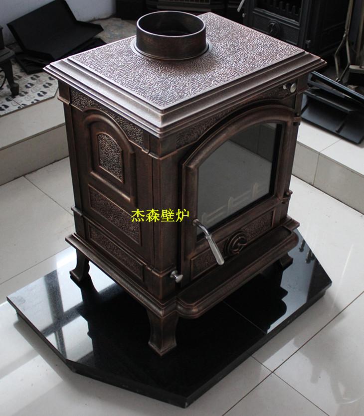 燃木铸铁壁炉图片