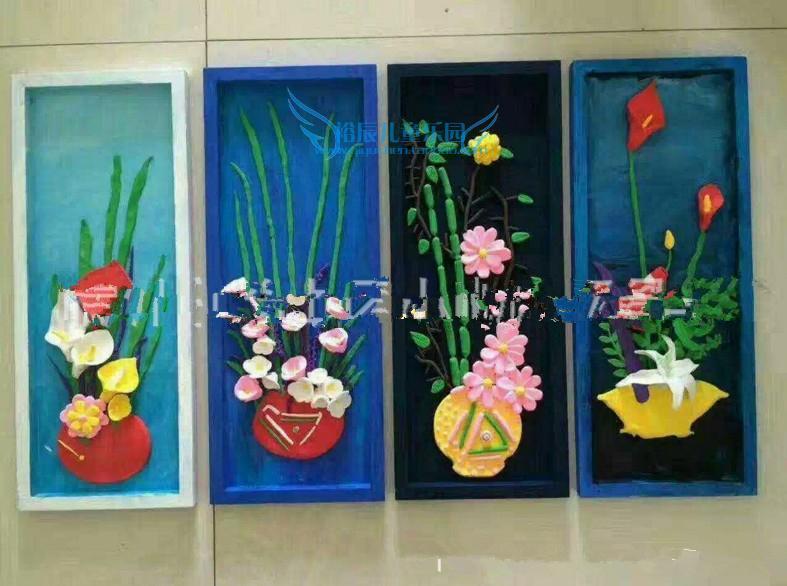 木制绘画框幼儿园墙面装饰壁挂儿童手工作品展示框diy图片