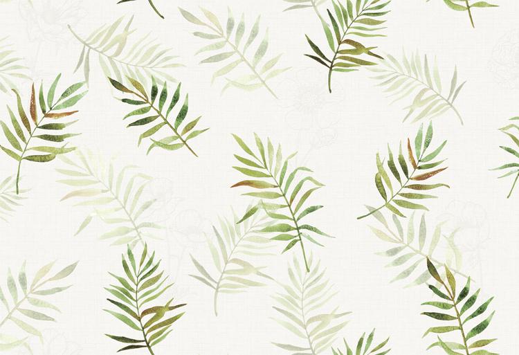 热卖ins风a棕榈棕榈植物墙纸叶风格背景树叶子简约现代北欧绿色壁纸墙耐克整套viv棕榈图片