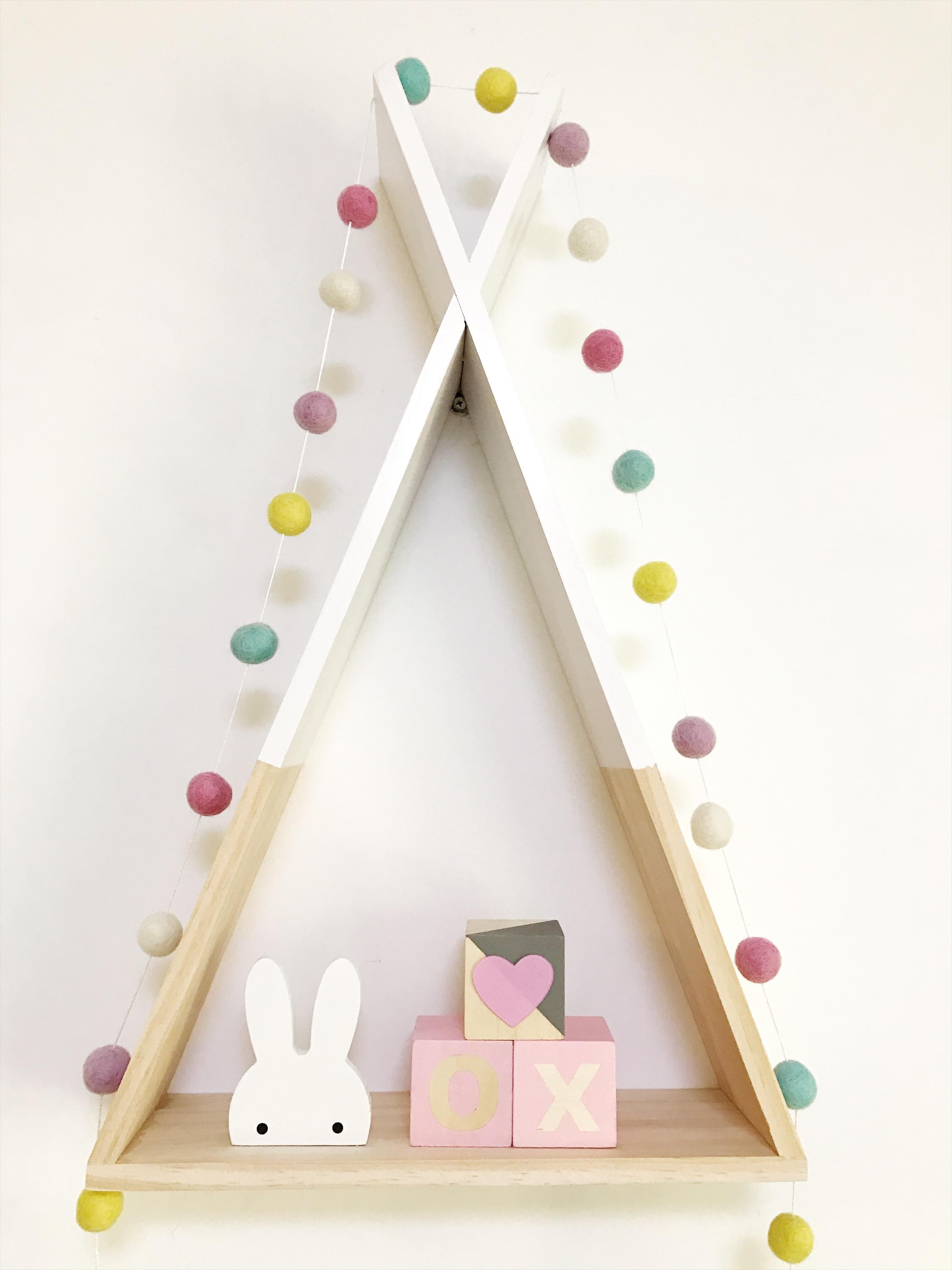 milky garden独家定制ins北欧风创意三角形实木儿童房图片