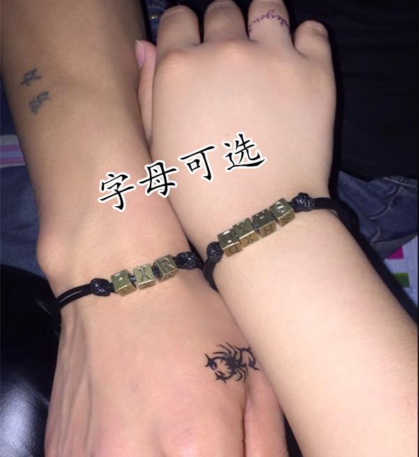 韩版脚链女款生日礼物本命年红绳脚链铃铛 男情侣定制