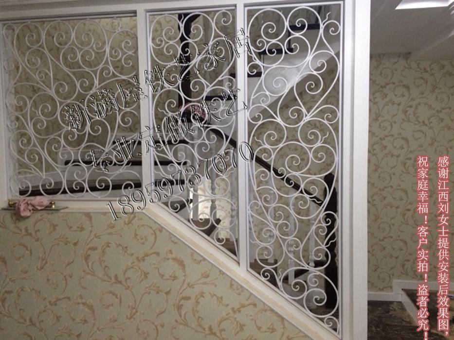 热卖促销欧式铁艺隔断屏风客厅拱形隔断玄关鞋柜镂空雕花窗花定做定制图片
