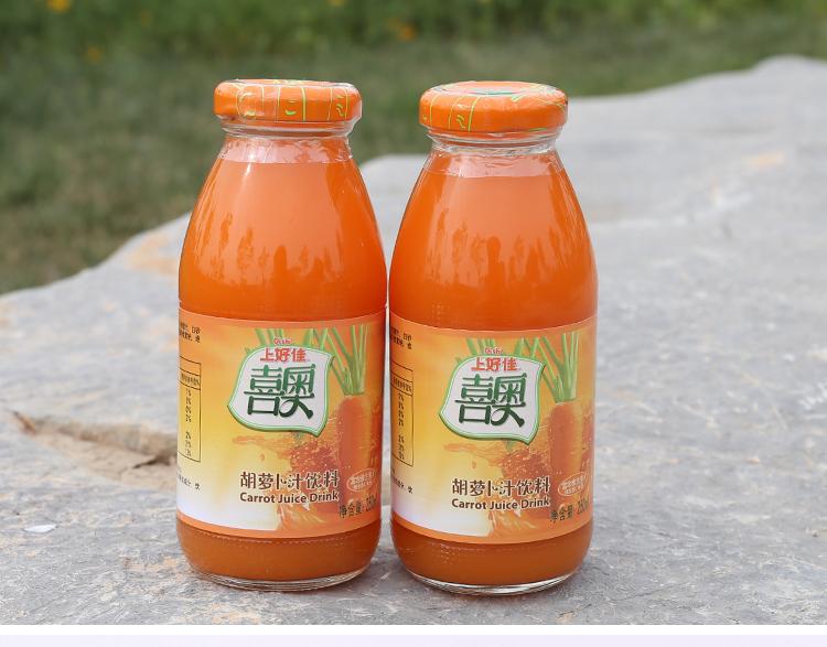 河北特产 上好佳喜奥胡萝卜汁饶阳特产纯果蔬汁250ml*图片