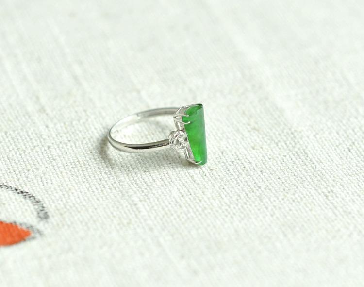 鲁白金_热卖正品保证鲁玉珠宝天然翡翠a货冰种满绿随心所欲随形戒指推荐