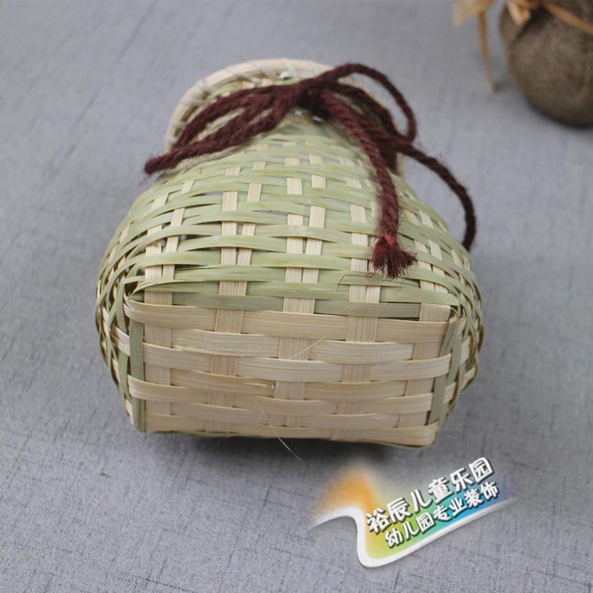 幼儿园室内外装饰吊饰竹编装饰绘画创意作品渔篓竹编小鱼背篓竹篓图片
