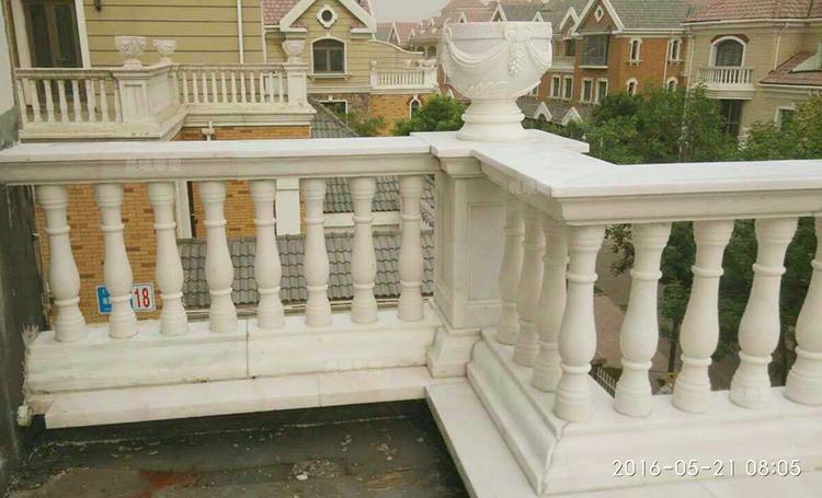 热卖大理石柱子汉白玉石材栏杆扶手花瓶阳台柱子护栏装饰欧式别墅新品