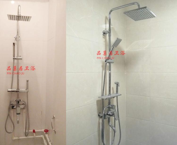 热卖淋浴花洒水龙头暗装转明装转接器头混水阀安装脚明管仿古固定底座图片