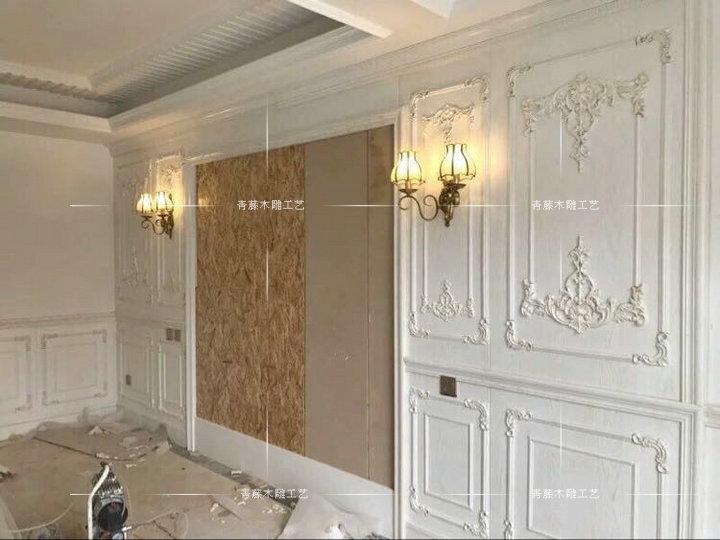 衣柜门木花 实木欧式雕花 护墙板背景墙门头花 橱柜角花家具装饰图片