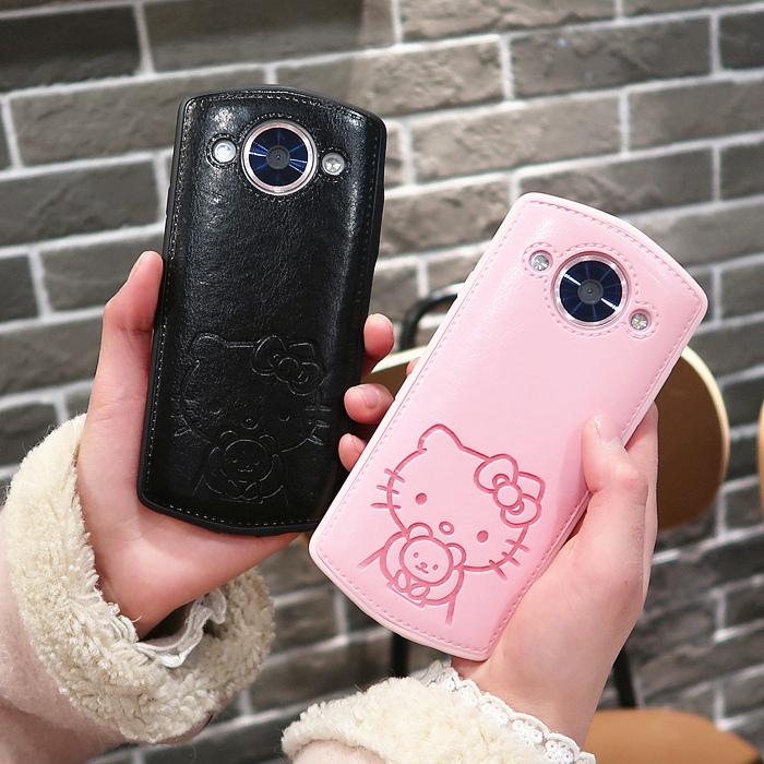 热卖美图m8s皮纹皮质手机壳 t8s m6s全包防摔凯蒂猫kt可爱卡通保护套