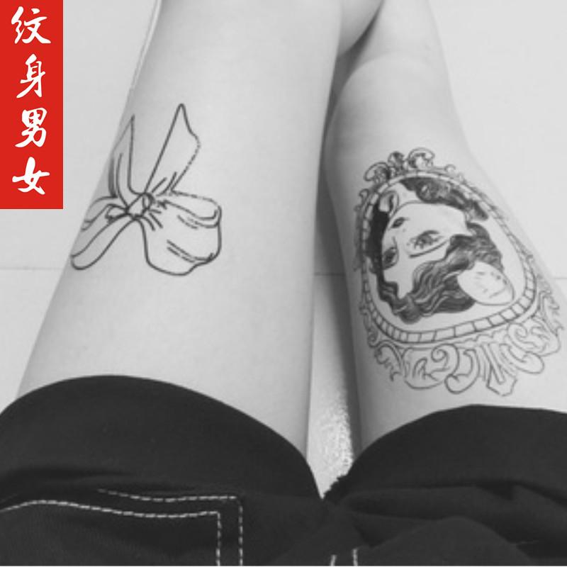 网红瑜妹妹 王逗逗同款纹身贴 锁骨翅膀纹身贴花朵猫咪纹身贴防水