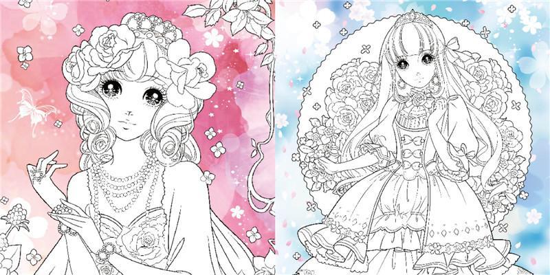 热卖梦幻公主涂画本:优雅小公主 海豚传媒 9787556058938 长江少年