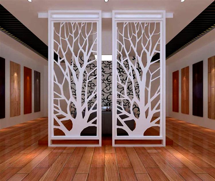 欧式铁艺屏风创意客厅窗花玄关镂空隔断拱形雕花时尚图片