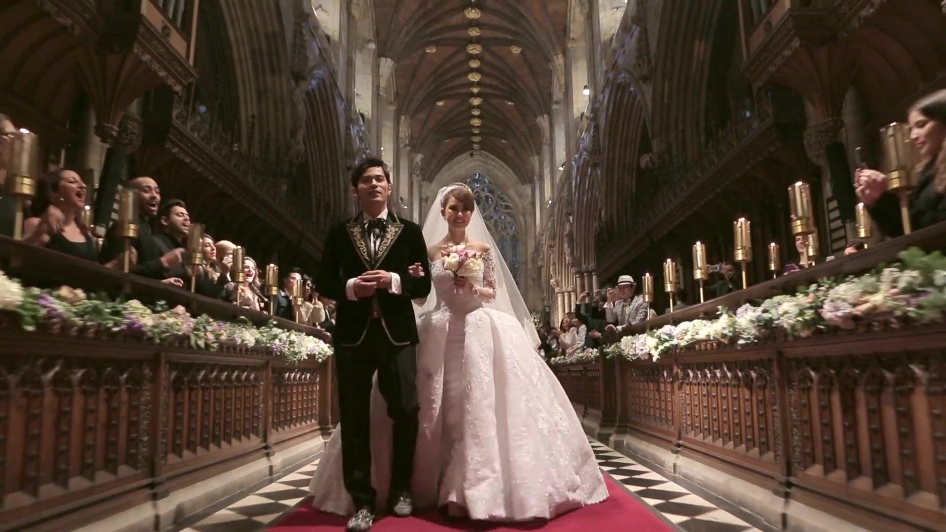 昆凌与周杰伦的婚礼是世纪的童话.
