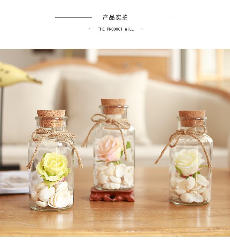 热卖蘑菇堡木塞布丁玻璃瓶子创意礼品瓶许愿瓶漂流瓶幸运星瓶装饰瓶图片