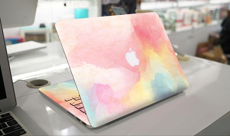 热卖苹果电脑贴膜macbook air/pro外壳贴纸笔记本原创意文艺水彩贴膜图片
