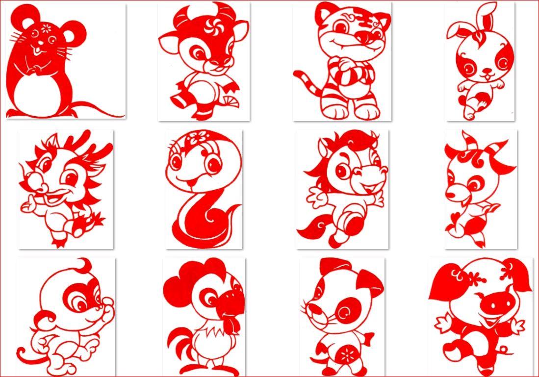 热卖特色中国整套梦龙非遗纯手工十二生肖学校幼儿园作品装饰剪纸画图片