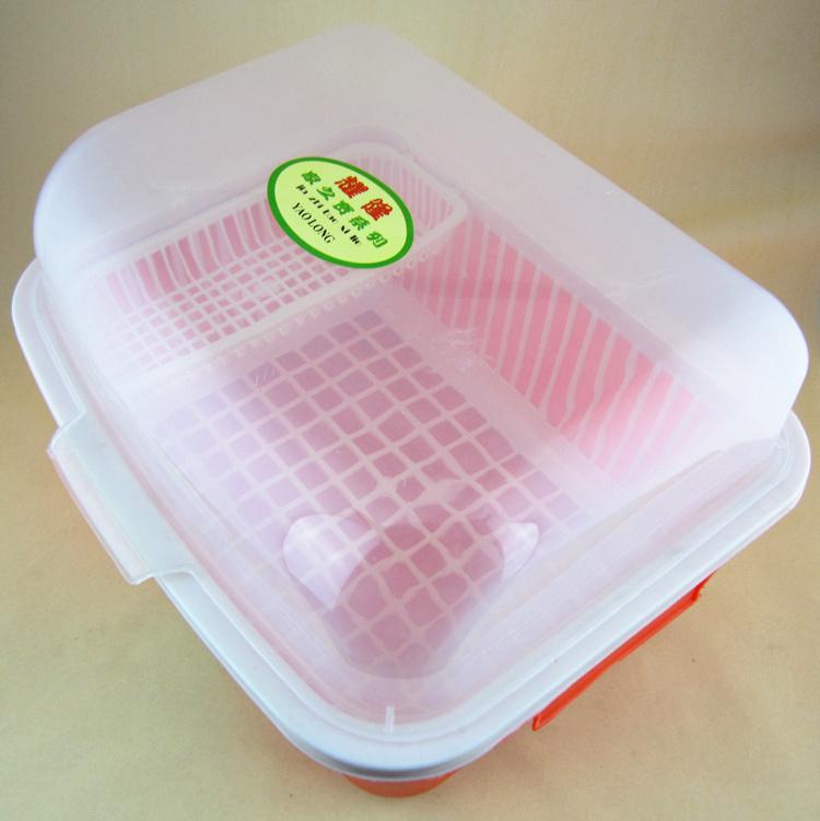 盖碗滴水卡通碗盆v盖碗架沥水带碗筷架镜子架塑厨房钥匙扣碗柜图片