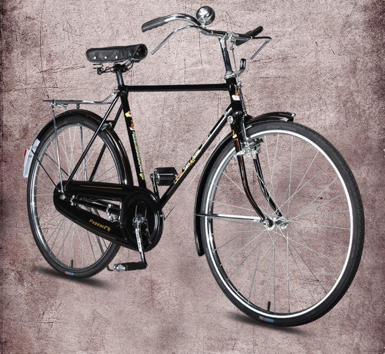 热卖凤凰老式自行车男式复古单车26寸平车直梁车大杆车杆闸车 传统车图片