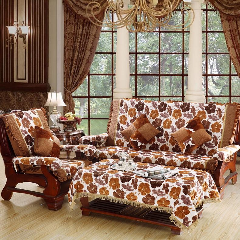 热卖好多家欧式红木沙发垫联邦红木椅垫三人实木沙发垫带靠背布艺坐垫图片