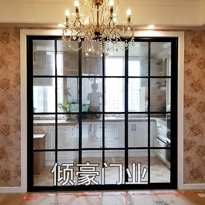 三联动门_上海三联动门定做 厨房客厅隔断 阳台移门钛铝镁合金移门厂家直销