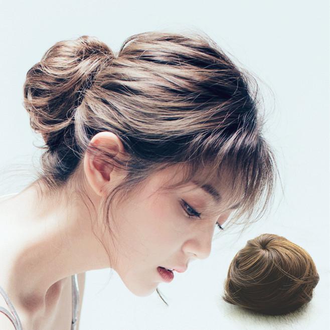 真发丝假发包头套蓬松小号丸子头发饰女花苞头逼真自然发包盘发器