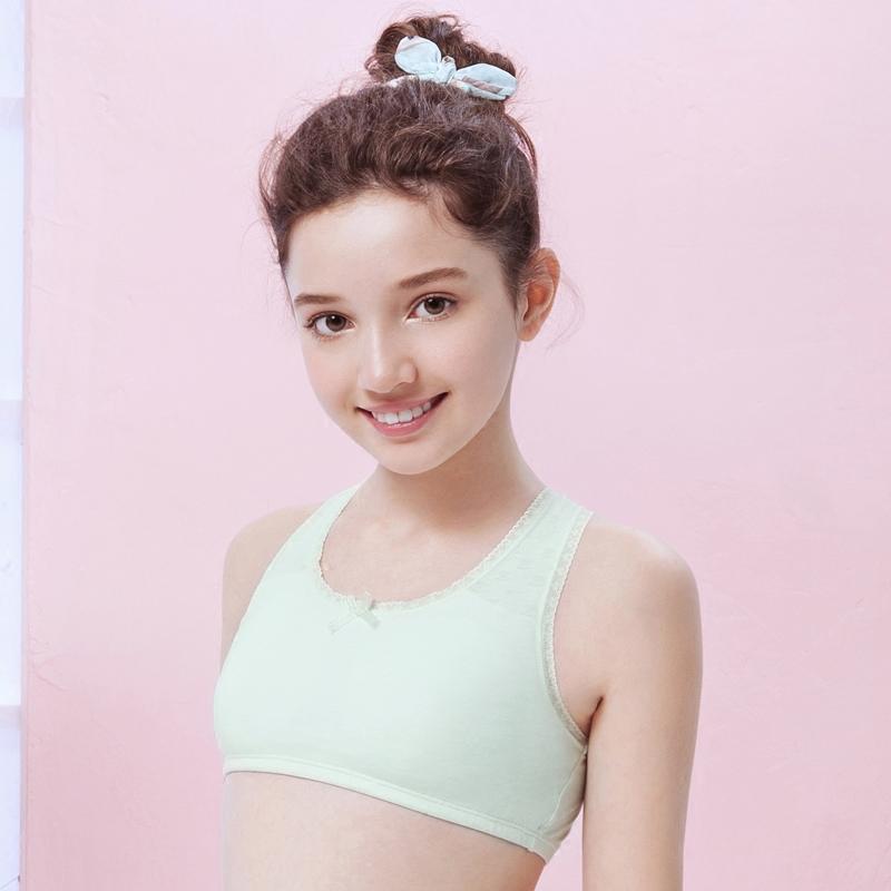 怡兰芬夏季少女文胸薄款女童内衣小背心棉质发育期小学生运动胸罩
